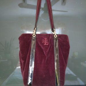 Ralph Lawrence crushed velvet purse